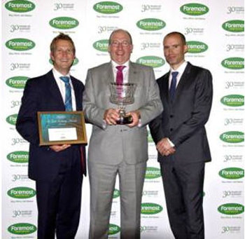 PING at Foremost Awards (from left) Andy Martin, John Clark, and Andrew Cotter