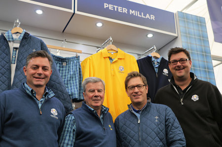 PGAs of Europe Chief Executive, Ian Randell (second right), alongside Peter Millar officials, Brian Dillman (Managing Director, International; left), Bob Smith (Senior Managing Director; second left), and Mark Hilton (Sales Director Europe: right)