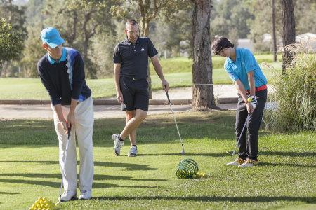 Sergio Garcia advises students of his Junior Golf Academy at PGA Catalunya Resort to focus on fun