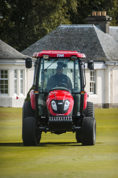 The new TYM tractor at Gleneagles.