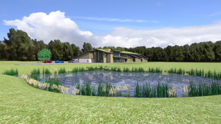 The proposed RA Equipment Testing Centre at Kingsbarns