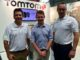 (From left) Steve Weston of TomTom, Simon Jones from the London Golf Show and Andrew Clayton from TomTom