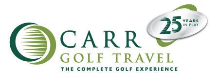 Carr Golf Travel 25 Years in Play