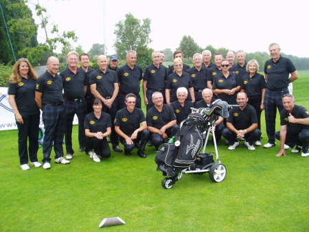 The England and Wales Blind Golf Association during the Auld Enemies Cup