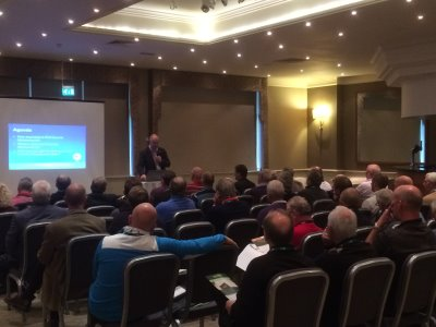 Jim Croxton CEO BIGGA addresses the meeting