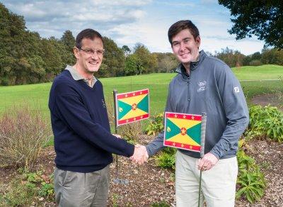 Left PeterJackson, Winne, right, Cae Menai-Davis pf The Golf Trust