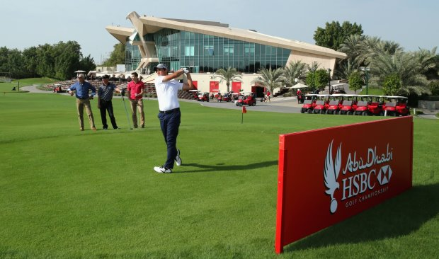 Matteo Manassero visited Abu Dhabi for a sneak preview of the enhanced course