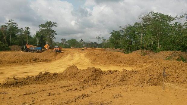 Construction in progress at Garden City Golf Estate in Nigeria