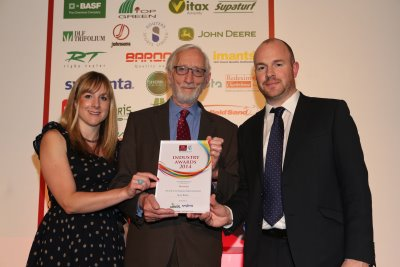 Syngenta's Caroline Carroll and Ed Carter from Everris with Derek Walder