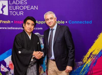 ISPS Chairman Dr Haruhisa Handa (left) and LET CEO Ivan Khodabakhsh
