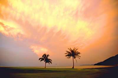 Sunset at Els Club Teluk Datai (