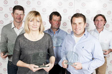 from left, Mark Day, Lysa Jones, Graham Walker, Ryan Fenwick and Andrew Nicholson (© Leaderboard Photography)