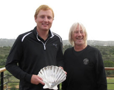 Tyler Hogarty with Espiche GC owner Peter Thornton