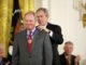 Jack Nicklaus receives the Presidential Medal of Freedom in 2005