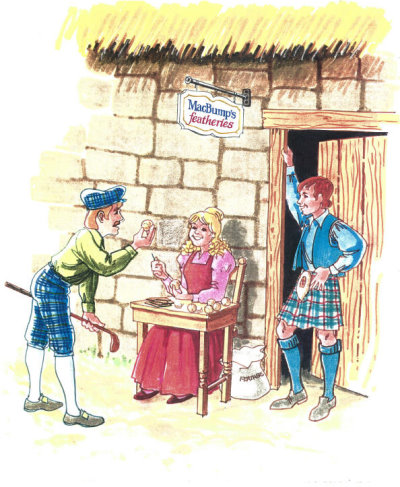 Angus and Bonnie MacBump with customer (Roger Mahler)