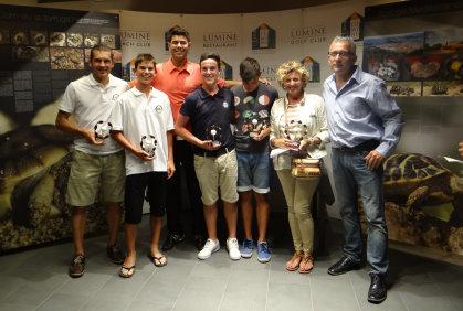 The winning team of the IRON Golf event, held at Lumine Mediterránea Beach & Golf Community