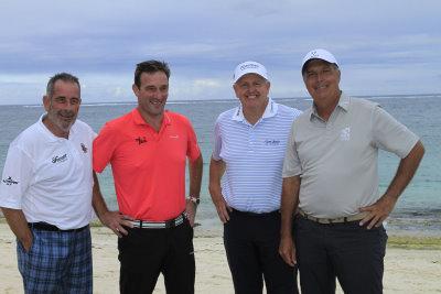 Sam Torrance, Paul Wesselingh, Colin Montgomerie and Marc Farry launch the MBC Tour Championship