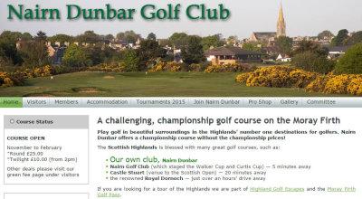 Nairn Dunbar GC website