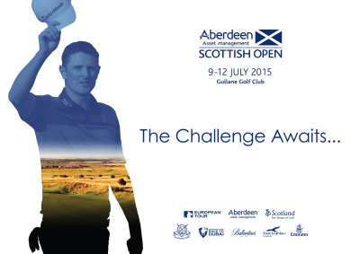 Justin Rose will feature prominently from today in a poster campaign throughout Scotland