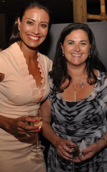 Lynx's Stephanie Zinser (right) with current I'm A Celebrity Get Me Out Of Here star, Melanie Sykes