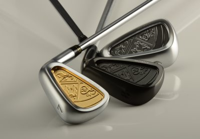 Sterling England irons are priced at £3,500 for nine clubs from 4-iron to sand wedge, including a gap wedge.