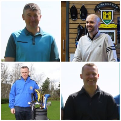 The nominees for TGI Golf's Partner of the Year awards (clockwise from top left): Mike Bradley (Notts), Michael McAllan (Elgin), Dave Delaney (Halifax Bradley Hall), Conor McKenna (Concra Wood)