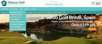 Glencorp Golf website