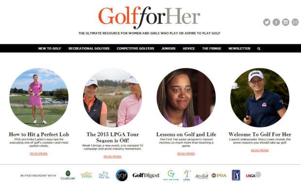 Golf for her website
