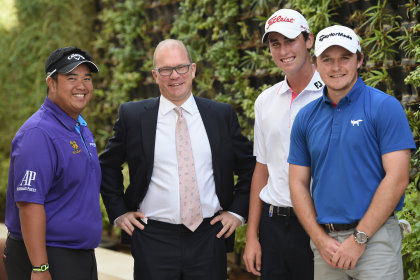 From left: Kiradech Aphibarnrat, Guy Kinnings, Renato Paratore and Eddie Pepperell (Getty Images)