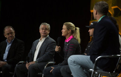 Panelists of the Olympic Golf Forum, presented by OMEGA, during the 62nd PGA Merchandise Show, January 2015 (Photo by Matthew Harris/The PGA of America)