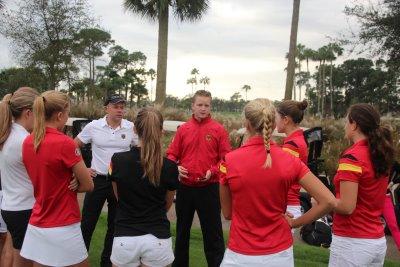 Sebastian Rühl Coaching the German Girls Golf Team