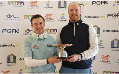 2015 Golfbreaks.com Fourball Championship Winners Matthew Cort (left) and Craig Shave