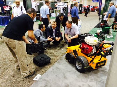 The combined stand of Dennis & SISIS will provide visitors to GIS 2015 with an array of turf maintenance machines