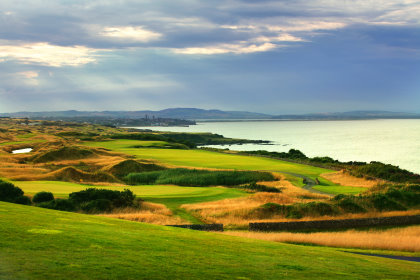 Faimont St Andrews - The 17th and 18th holes on The Kittocks Course.