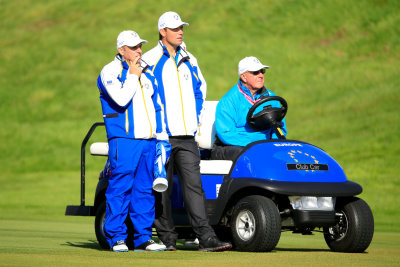 Paul McGinley and Padraig Harrington at The 2014 Ryder Cup (Getty Images)
