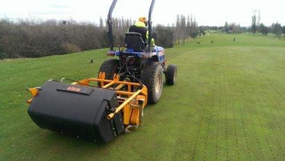 Jason Cooper, Head Greenkeeper at Leamington & Country Golf Club, has chosen to purchase a SISIS Rotorake TM1000 scarifier and SISIS Variseeder 1300 tractor mounted seeder