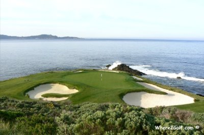 Pebble Beach in California, one of the courses reviewed on Where2Golf.com