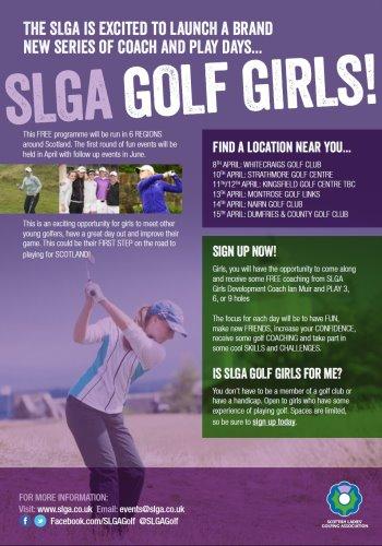 SLGA Golf Girls Poster