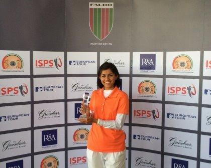 Sana Tufail the 2014 Faldo Series Middle East Championship overall winner