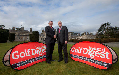 Walton Media Group Managing Director, Linton Walsh and IGTOA Chairman, Denis Kane at the recent announcement of a three year Official Media Partnership with the IGTOA at Carton House