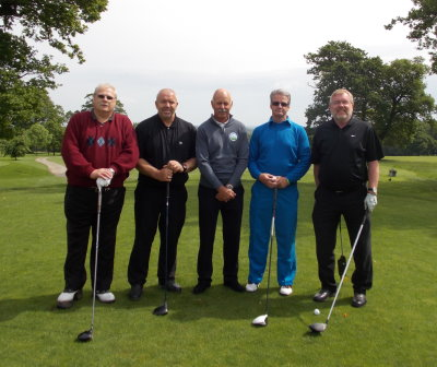 Mark James with group of disabled golfers at Rudding Park in Yorkshire