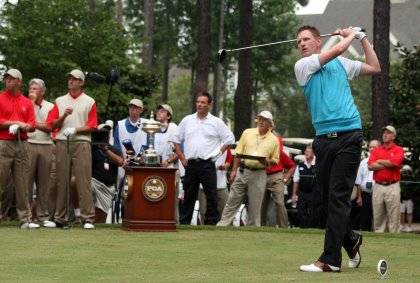 ames Whatley teeing off in the 2007 PGA Cup (Getty Images Dave Cannon)