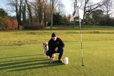 Brough GC Course Manager Rob Clare and Dexter