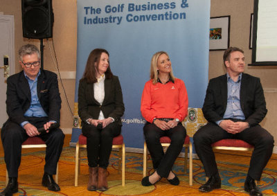 Carin Koch (second from right), 2015 European Solheim Cup Captain and Syngenta Golf Ambassador, joined delegates at GolfBIC 2015 and was part of the panel discussion, 'The Opportunity to Grow Golf: Female Participation'