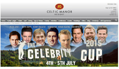 Celebrity Cup website