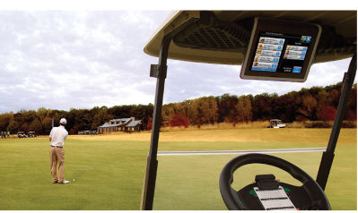 Club Car's market-leading Visage system is installed at more than 600 courses