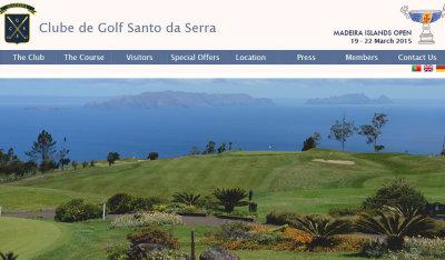 Club de Golf Santo website