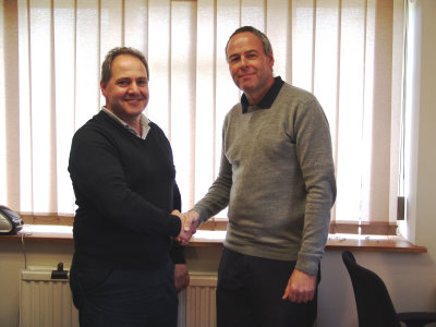 Tony Nelli, EGM Sales Manager, (left) with David Murphy