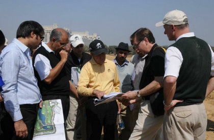 Gary Player makes a site visit to DLF Golf and Country Club