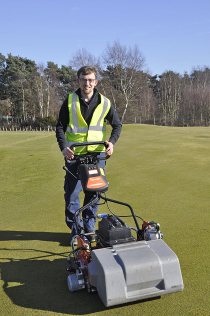 James Gotts, the new Greenkeeper at the RJ National